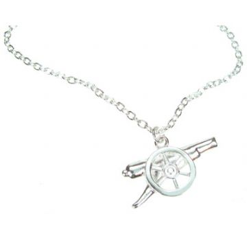 Arsenal Silver Plated Pendant & Chain GN